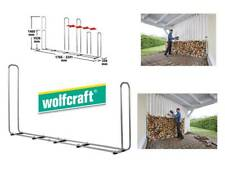 Wolfcraft Stapelhilfe Modular XXL für Brennholz Kaminholz 5125000