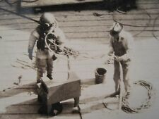 ANTIQUE VINTAGE BRASS DIVING MASK SUIT LINE EARLY AMERICAN DIVER MIDWEST ORIGIN