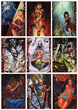 2016 Braiiinz Publishing Horror Meets Girl Complete 9 Card Spot Foil Chase Set