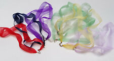 Cord Necklace 925 Sterling Silver Lobster Lot Of 10 Pieces Silk Ladies Ribbon