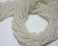 Rainbow Moonstone 3.5MM Faceted Rondelle Gemstone Beads 12.5 Inch Strand