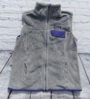 Womens PATAGONIA Gray Full Zip RETOOL Fleece Polartec Vest Small $129
