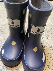 Country Road gumboots Rainboots Baby Girl 18 6-12months