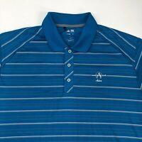 Adidas Adios Clima Lite Polo Shirt Men's Size XL Short Sleeve Blue Striped