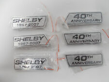 Shelby GT500 40th Anniversary Front and Side Emblems SHELBY OEM ORIGINAL OBSOLET