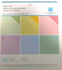 Ek Success Martha Stewart 8x8 Pastels Paper Pad 36 Double sided pages
