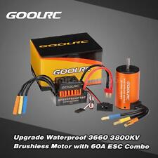 Cool GoolRC Waterproof 3660 3800KV Brushless Motor /60A ESC for 1/10 RC Car C6P1