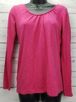 Ann Taylor LOFT Women's Size Small Pink Key Hole Back Long Sleeve Top