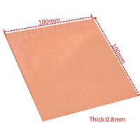 0.8mm*100mm*100mm 1PC 99.99% Pure Copper Cu Metal Sheet Plate