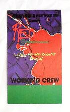 REO Speedwagon Fabric Backstage Working Crew Pass Unused 87 Tour