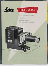 leitz prado 150 1953 Dépliant / Brochure 4 pages en Français