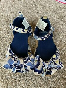 Gymboree Blue With Yellow Girls Sandals Size 6