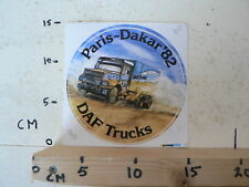 STICKER,DECAL DAF TRUCKS PARIS-DAKAR 1982 DAF 2800 TRUCKS B