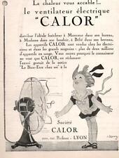 ▬► PUBLICITE ADVERTISING AD ventilateur électrique CALOR 1926