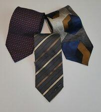 Lot of 3 Mens Neck Ties 100% SILK Nautica Calvin Klein J. Blades