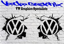 "Volkswagen VW Extra Large 17"" logo Stickers X2 Transporter T6 T5 T4 Campervan"
