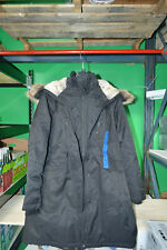 1 Madison Expedition Women's Faux Fur Hooded Parka Black Jacket Large NWT