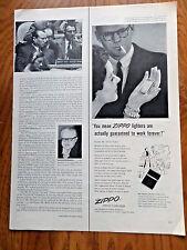 1954 ZIPPO Lighter Ad  Engine-Turned Zippo