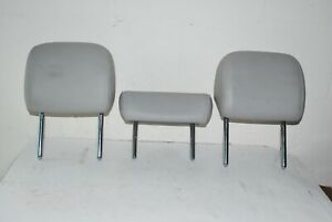 2009 - 2012 Audi A4 Rear Headrests Left, Right, And Center Gray Headrest OEM