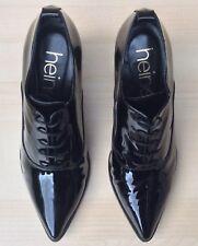 Heine Womens Patent Black Court Shoes UK 6 EU 39 New.