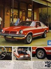 "1974 Chevrolet Vega GT Original Print Ad-Red Head -.8.5 x 10.5"""