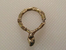 Superb Small Rare Medieval Gold Gilded Annular Ring Brooch Clasped Hands