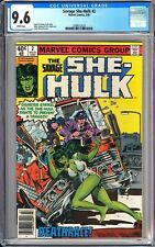 """Savage She-Hulk #2 CGC 9.6 White Pages 1980 3789512025 """"Newsstand Edition"""""""