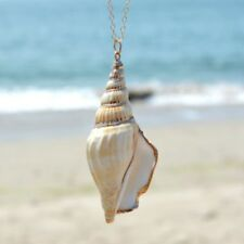 Ocean Winds Chain Necklace Conch Shell Pendant Necklace Women Natural Jewelry
