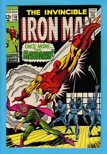 IRON MAN # 10 FN+ (6/6.5) MANDARIN APPEARANCE- GLOSSY UNSTAMPED CENTS COPY- 1969