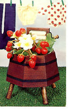 Spring Planter Washtub-Berry Patch Handcraft Kit Vintage Advertising Postcard