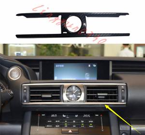 Real Carbon Fiber Center Air Outlet Cover Trim For Lexus IS250 300 350 2014-2019