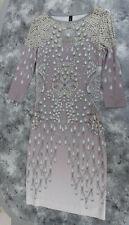 Marc Cain Damen-Kleid, flieder creme grau, Gr. 1, wie neu 1 x getragen