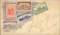 1901 Buffalo Pan-American Expo Postage Stamps Printed Expo Cancel PC jrf