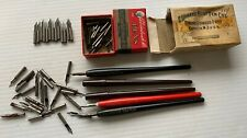 New listing Hunt Round Pointed - Esterbrook # 62 Crow Quill Lithographic Dip Pen Nibs - Pens