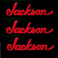 Jackson Guitar Headstock Logo OEM, Die-Cut Decal Gloss RED Luthier