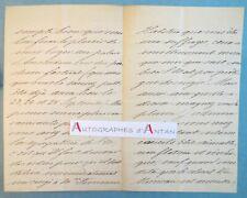 L.A.S 1876 Henri du MONCEAU aide camp Roi de Hollande > compositeur Ernest REYER