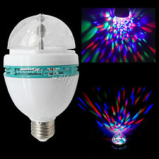E27 3W Colorful RGB LED Rotating Crystal Bulb Lamp For DJ Stage Party Disco Xmas