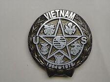 "Vietnam War Veteran Memorial Aluminum Grave Marker with 21"" Ground Stake"