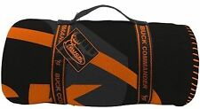 Duck / Buck Commander Fleece Throw Blankets (ORANGE / BLACK)