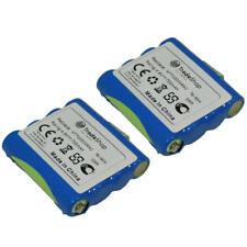 2x Batterie 700 mAh 4,8 V NiMH pour DeTeWe Outdoor pmr8000 Simvalley wt100 Switel wt237