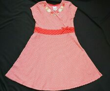 Gymboree WISH YOU WERE HERE Red Striped Knit Dress NWT 5