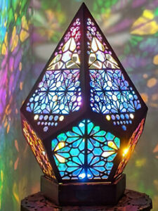 Bohemian Mosaic Starry Sky Floor Projection Lamp Colorful Table Bedside Light AU