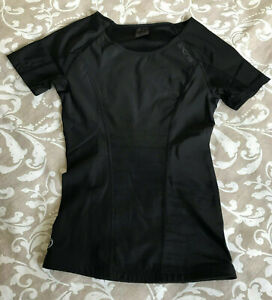 Skins Women's DNAmic Short Sleeve Compression Top Black Small