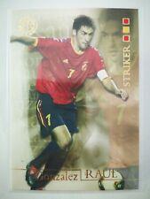 Futera 2004 world football carte card soccer Espagne Spain Gonzalez Raul #54