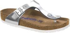 Birkenstock Gizeh Naturleder Strandschuhe Metallic Sandale Sandalette