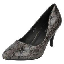 Zapatos de tacón de mujer de piel color principal gris talla 38
