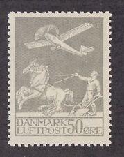 Denmark Sc C4 MNH. 1929 50o Airplane, Plowman & Horses, Scarce