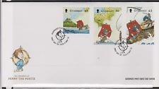GUERNSEY 2010 Penny the Postie/Europa '10/Children's Books SG 1333/5 FDC PIRATES