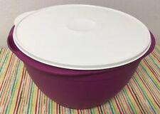 Tupperware Maxi Mega Salad Bowl 42 Cups Plum w/ Ivory Seal New