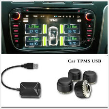 USB Car TPMS Android Tire Pressure Monitoring System with 4 External Sensors